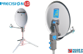Maxview PRECISION I.D  55cm / 65cm / 75cm Satellite System with Single or Twin LNB, TV & Satellite for campervan caravan and motorhome - Grasshopper Leisure